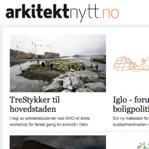Artikkel om TreStykker 2012 p Arkitektnytt.no